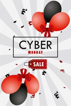 Cyber monday with red and black colors balloons helium. Download it at freepik.com! #Freepik #vector #banner #sale #promotion #discount Cyber Monday Sales, Black Colors, Sale Promotion, Bts Taehyung, Balloons, Banner, Red, Banner Stands, Globes