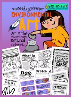 This pack contains all you need to inspire and motivate your little bunch of budding artists, both before, during and after your hands on experience!  It makes a fun camp or nature club activity – great for getting your students closely engaged in the outdoor environment and exploring their creative sides...