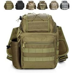 2014 New Men Army Style sports Cross Body Pack MEN'S Casual Single Strap Sling One Shoulder Messenger Bags Camera Backpack 17837 $29.12
