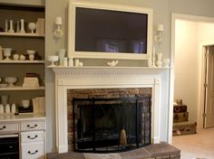 TV frame/mantle fire place concept by beet.sand