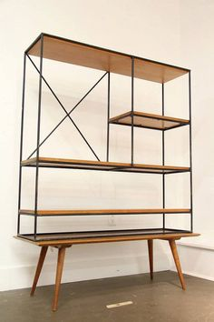Rare Mid Century Modern Paul McCobb Room Divider Hutch