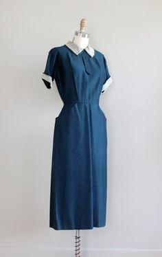 50s dress / vintage 1950s dress / Minor Secrets by DearGolden, $168.00