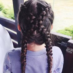 #hair #braids #long #bronze
