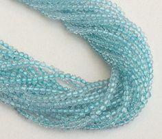 Aqua Coated Quartz Beads Aqua Quartz Micro by gemsforjewels