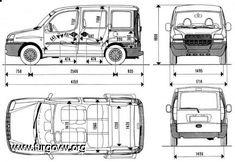 Medidas interiores de las furgos [ESQUEMAS] Citroen C15, Caddy Maxi, Volkswagen Caddy, Toyota Hiace, Land Rover Defender 110, Mini Camper, Camper Van, Peugeot, Cars