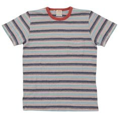 Levi's Vintage 1960s Stripe Tee (4.010 RUB) ❤ liked on Polyvore featuring mens, men's clothing, men's shirts, men's t-shirts, tops, t-shirts, shirts and tees