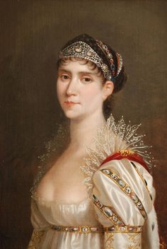 Empress Josephine- love love love the lace crown atop the sleeve. Why don't the make clothes like this anymore??!!