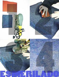 Este procedimiento se realiza industrialmente en base a cilíndros giratorios con papel de lija, con el objetivo de entregarle suavidad al tejido simulando la textura de la piel de durazno.