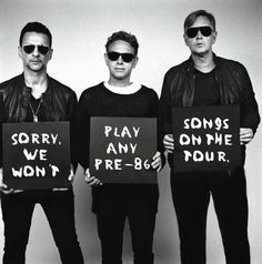 Dave Gahan Martin Lee Gore and Andy Fletcher of Depeche Mode Martin Gore, Great Bands, Cool Bands, Rock Music, My Music, Alan Wilder, Delta Machine, Enjoy The Silence, Dave Gahan