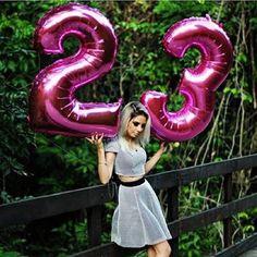 Balão Metalizado Número Rosa Pink - Grabo