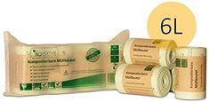 BIOvative Kompostierbare Bio-Müllbeutel 6 Liter - 200 Stk. reissfeste und auslaufsichere Bio-Beutel - 100% kompostierbar und biologisch abbaubar - 6l Bio-Müllsäcke für Ihre Biotonne & Kompost: Amazon.de: Küche & Haushalt