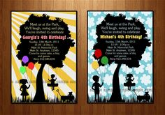 Playground Birthday Party Printable Invitation - Park Birthday Party - Outdoor Birthday Party -  DIY Printing. $16.00, via Etsy.