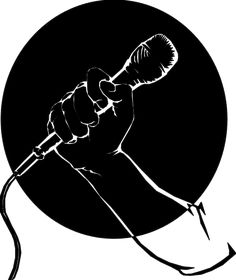 Cartoon Microphone Clip Art For blaoggers need a mic