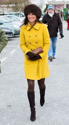 CHELTENHAM, UNITED KINGDOM - MARCH 14: Pippa Middleton attends day 3 of the Cheltenham Festival at Cheltenham racecourse on March 14, 2013 in London, England. (Photo by Samir Hussein/WireImage)