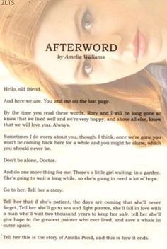 Afterword with amy Pond