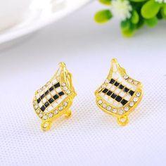 """10PCs Gold Plated Flag Shape Stud Earrings 24.5mm x16mm(1"""" x 5/8"""")"""
