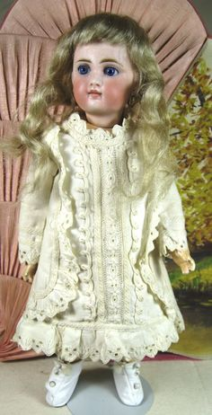 Super French Face Antique Belton German Doll, Original Clothing