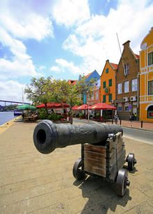 Fort Amsterdam- Curaçao Fort in Willemstad op het eiland Curaçao, Nederlands- Caribische architectuur