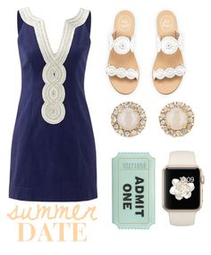"""""""Summer date"""" by marin-xox ❤ liked on Polyvore featuring Lilly Pulitzer, Jack Rogers and Kate Spade"""