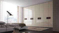 Sectional lacquered wardrobe Tecnopolis anta STEP By Presotto design Pierangelo Sciuto