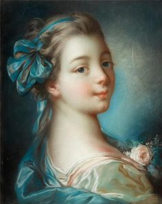 Francois Boucher France 1703-1770 Young woman in profile.