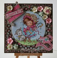 Whimsy Stamps card by Shannah Bartle using 'Mary' by Wee Stamps and 'Double Scallop Doily Die' from Whimsy Shapeology Dies