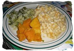 SA side dishes: Samp, Pumpkin and Cabbage - South African food adventure, South Africa food South African Dishes, South African Recipes, How To Cook Samp, Tasty Dishes, Side Dishes, Easy Cooking, Cooking Recipes, Rainbow Food, Specialty Foods