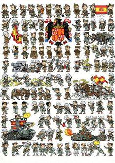 La Pintura y la Guerra. Sursumkorda in memoriam Military Diorama, Military Art, Military History, Military Uniforms, Military Drawings, War Comics, Military Insignia, Game Character Design, Historical Maps