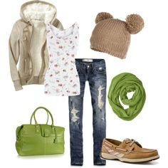 I love this one minus the hat, jacket, purse, hat, scarf and shoes! Basically just the jeans and tank! LOL
