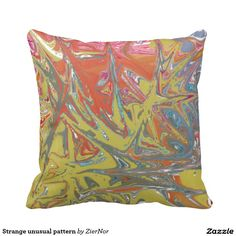 Strange unusual pattern pillow