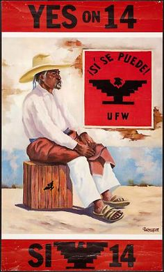 "Betanzos, Pro-Proposition 14 Poster for United Farm Workers, California, United States, 1976. (""California proposition 14 was a controversial ballot initiative from the UFW that sought to ensure state funding for the Agricultural Labor Relations Board. It failed."")"