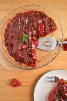 Chocolate covered strawberry pie