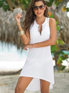 "As soon as he sees you in this sexy white dress he will say: ""I have a beautiful wife"" and be thankful for how happy you make his life. - Price $95"