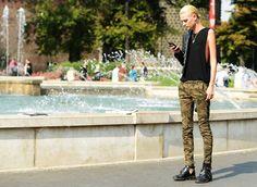 #tanktop + #camo jean + black boots | that #Balenciaga boots still haunts me