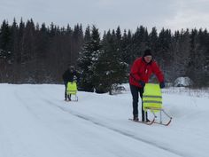 The Swedish sled, an easy way of tranpsort