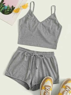 Cute Lazy Outfits, Summer Outfits, Casual Outfits, Summer Shorts, Formal Outfits, Casual Suit, Long Shorts, Cute Pajama Sets, Cute Pajamas