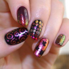 Bulleuw: Autumn #nail #nails #nailart