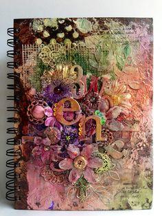 An altered journal inspired by Finnabair. - Scrapbook.com
