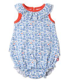 White Bateau Ruffle Bubble Bodysuit - Infant #zulily #zulilyfinds