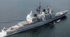 USS Bunker Hill CG 52 - Ticonderoga class guided missile cruiser - Desert Shield 1992