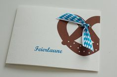 Karte für das Oktoberfest, Freunde einladen, Brezel / greeting card Munich beer festival made by creartivbox via DaWanda.com
