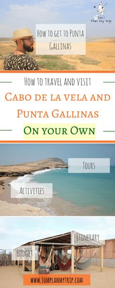 Punta Gallinas and Cabo de la Vela, la Guajira Colombia - Where to sleep in Punta Gallinas and Cabo de la Vela. What tour do you need to book? How much does it cost to get to La Guajira? Things to do around Cabo de La Vela and Punta Gallias? Travel Jobs, Ways To Travel, Places To Travel, Travel Destinations, Travel Advice, Travel Plan, Travel Stuff, Budget Travel, Brazil