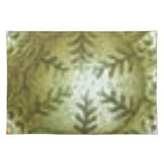 cream ball with ferns cloth placemat - white gifts elegant diy gift ideas