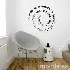 vinilos para pared frases - Buscar con Google Room Decor, Wall Decor, Decoration, Wall Stickers, Ideas Para, Living Room Designs, Office Decor, Home Furniture, Home Goods