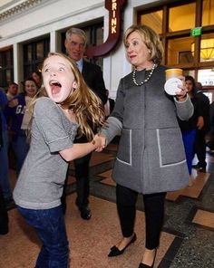 I love how this girl is so psyched!