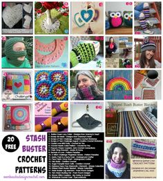 """Get 20 Free Stash Buster Crochet Patterns this week! Click To Tweet If you have a crochet themeyou would like me to considerfor Free Crochet Pattern Friday, please let me know! All patterns were free at the time they were added to the post. If you visit a link and it has become a """"for …"""