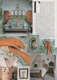 Helena Christensen's Copenhagen apartment - bedroom