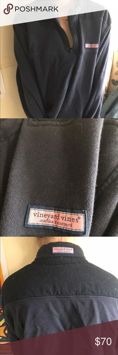 Men's Vineyard Vines classic blue sweater Classic vineyard vines pullover, men's size large! Used but in great condition. Vineyard Vines Sweaters Zip Up