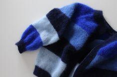 Sorbet cardigan – garn, farvekoder med mere | Efterår | Mor med mere Sorbet, Blue Cardigan, Bindi, Plaid Scarf, Knitwear, Knit Crochet, Cardigans, Sewing, Knitting