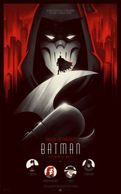 Batman: Mask of the Phantasm Mondo anniversary variant poster by Phantom City Creative. Hands down, the animated series of Batman was the best iteration of the superhero next to Nolan's version. Such a gem of a film that demonstrates that. Bruce Timm, Dc Comics, Batman Comics, Comic Books Art, Comic Art, Book Art, Batman Maske, Nananana Batman, Univers Dc